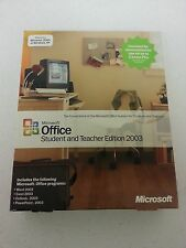 Microsoft Office 2003 Student and Teacher for 3 PC Word Excel Outlook Powerpoint