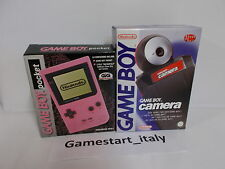 CONSOLE GAME BOY POCKET PINK + RED CAMERA - PAL ITALIAN VERSION - NEW - RARE