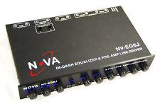 Nova NV-EQ6J 5 Band Parametric Equalizer & Pre-Amp Subwoofer Gain Control