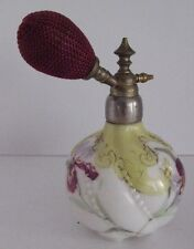 Mt. Washington Dresden Paneled Swirl Floral Hand Decorated Perfume Atomizer