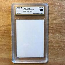 1989 Topps Gary Sheffield #343 error card gem mt 10