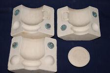 Vtg Ceramic Pottery Slip Casting Mold - 4 Piece Mold - Decorative Coffee Cup