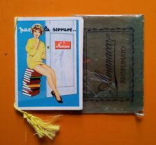 Calendarietto da Barbiere 1961 - Par la serrure..de la Maison Pin-Up con busta