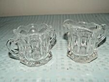 Heisey Miniature Handled Open Sugar Bowl and Creamer/Pitcher
