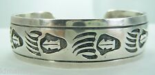 VINTAGE MENS HANDWROUGHT BEAR CLAW STERLING BRACELET MEXICO