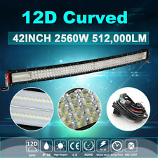 "12D Quad Row 42inch 2560W LED Work Light Bar Spot Flood Off road ATE SUV 43"" 44"""