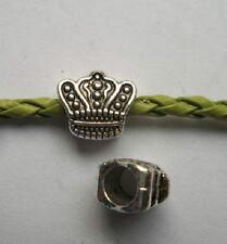 15 pcs Tibetan silver big hole crown Charm Spacer beads 10x11x7 mm