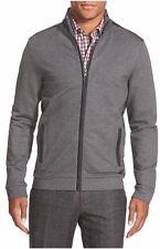 New Authentic Hugo Boss Black Label Gray Zip Up Logo Men Sweater Jacket S $295
