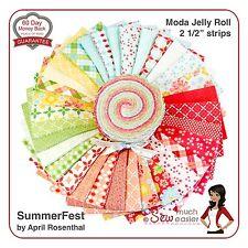 SummerFest Moda Fabric Jelly Roll vintage modern retro summer-fest floral bright