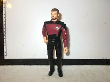 Action Figure Star Trek Series TNG Will Riker in Red & Black approx 6 inch