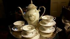 Bavaria Western Germany Coffee Set with coffee pot and 12 cups/saucers