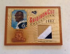 Isaac Bruce 2002 Donruss Gridiron Kings Authentic Cut Card 156/400 3 Clr Jersey