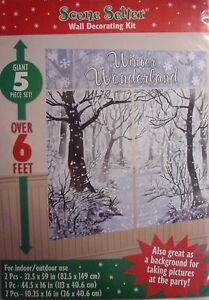 Giant Winter Wonderland Xmas Wall Decoration Kit (6' Tall) 5 Xmas Decorations