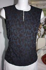 Noa Noa Empire Korsage Top Bluse Heavy Jaquard ohne Arm India Ink Size: 38/S Neu