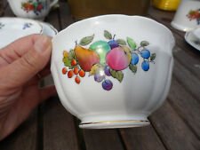 ANTIQUE SUGAR/SLOP BOWL HAND PAINTED, CROWN STAFFORDSHIRE.3 INS X 5.5INS DIA.VGC