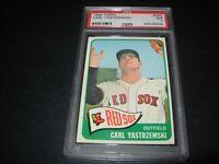 1965 Topps baseball #385 Carl Yastrzemski Boston Red Sox  graded PSA  nm 7