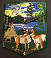 TATOKAINYANKA OA LODGE 356 CENTRAL WYOMING WY NOAC 1998 WOLF ANTELOPE 2-PATCH