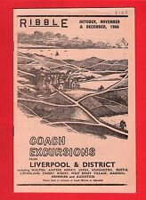 Coach Timetable ~ Ribble - Excursions from Liverpool & District: Oct to Dec 1966