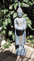 Thai Buddha Stehend Budda Teelichthalter Statue Garten Figur Tempelwächter 101+