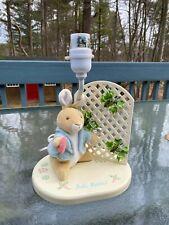 Vintage Eden Toys Beatrix Potter Peter Rabbit Wooden Table Lamp