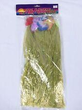 Kiddie Flowered Hula Yellow Skirt Assortment Luau Tropical Party Flowered Leis