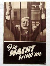 Filmprogramm - DIE NACHT BRICHT AN - Jean Gabin