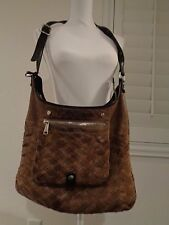 GRYSON woven Brown Crossbody Handbag Purse