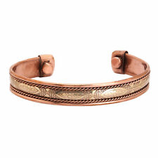 Copper Bracelet Tibetan Bio Pain Relief Pattern Magnetic Unisex