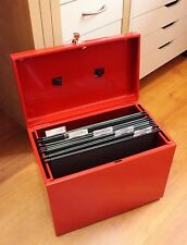 Home Security Chest Safe Fireproof File Box Storage Office Waterproof Lockable R