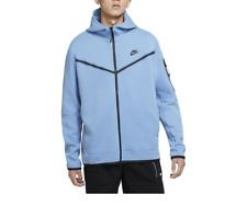 Nike Tech Fleece Men Full Zip Hoodie Blue Black CU4489 496