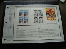 FRANCE - document CEF 1er jour 23/11/1974 (carnet croix-rouge) french