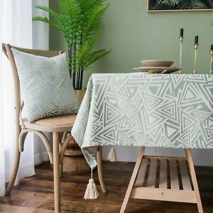Rectangular Tablecloth Wedding Waterproof PVC Geometric Table Cover Home Textile