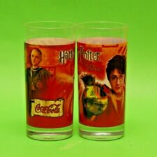 Original Coca Cola Glass Glassware from TURKEY set of 2 New Harry Potter
