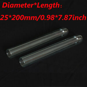 5/10/30/50/100Pcs 25x200mm Lab Chemistry Borosilicate Glass Test Tubes