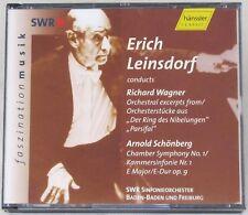 Erich Leinsdorf Conducts Richard Wagner CD 2-Disc Hanssler Schonberg Classical