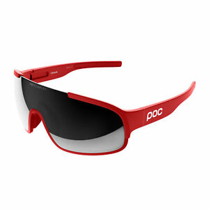 POC Sports Crave Cycling Sunglasses Prismane Red w/ Violet Silver Mirror Lens