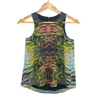 Portmans Sleeveless leaves boho Womens top shirt size 10