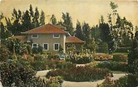 Los Angeles California~Holder Residence~House And Gardens~1909 Postcard