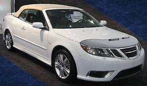 CAR HOOD BONNET BRA fit Saab 9-3 2007-2011  NOSE FRONT END MASK BRA DE CAPOT