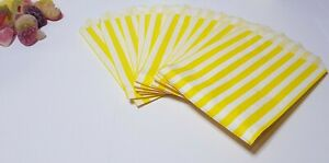 Candy Stripe Paper Bags Gift Shop Party Buffet Wedding Cake Sweet Treat Coloured