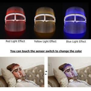 [Belleza Fotón LED Máscara] 3-Color LED Rejuvenation Facial Mask