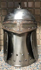 Vintage Metal Medieval Knight Armour Goth Ice Bucket Helmet Barware