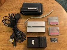 Sony Cyber-shot DSC-T9 6.0MP Digital Camera Silver 2GB 2 Batteries Leather Case