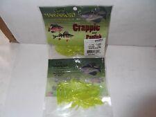 """Gary Yamamoto Custom Baits Crappie And Panfish 1.75"""" tubes Chart SLVR/Glitter"""