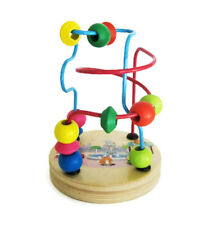 Wood Mini Wire Beads Maze Learning Game for Preschool, Doctors Waiting Room Toy