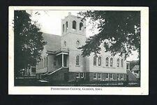 Glidden Iowa IA 1912 Old Corner Presbyterian Church Building, Iron Fence, Homes