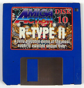 AMIGA ACTION MAGAZINE DISK 10 ISSUE 22 JULY 91 - R-TYPE II + INSTRUCTIONS
