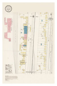 Barstow 1917 Sanborn Fire Insurance Map, Exquisitely Detailed Map - Poster
