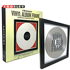 NEW Crosley Wood Vinyl Record Wall Frame - Black AC1006A-BK