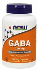 Now Foods GABA 750mg 100 VCaps
